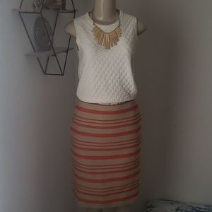 Talbots Striped Skirt Womans size 6